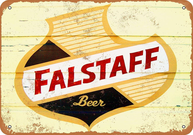 Amazon.com: Wall-Color 7 x 10 METAL SIGN - Falstaff Beer - Vintage ...