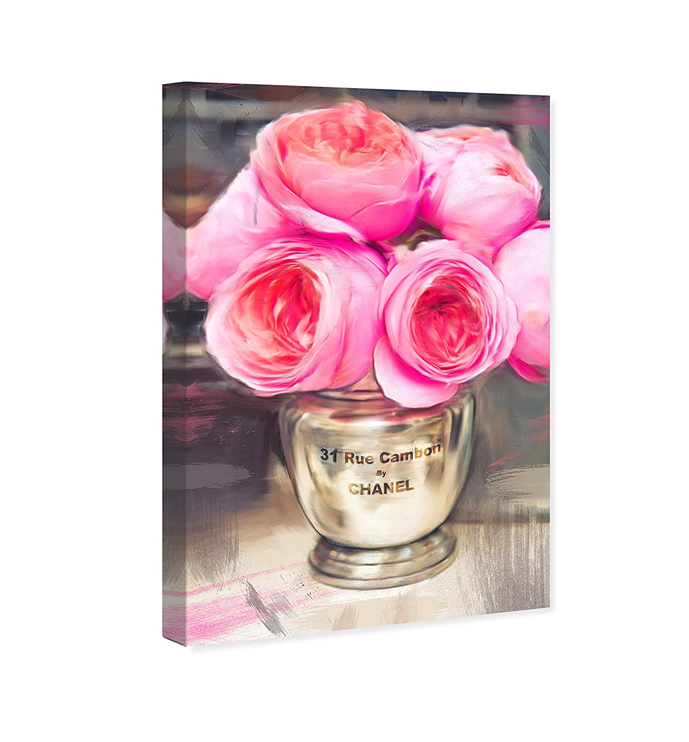 The Oliver Gal Artist Co. Floral and Botanical Wall Art Canvas Prints Rue Cambon Home D cor, 10 x 15 , Pink, Gold