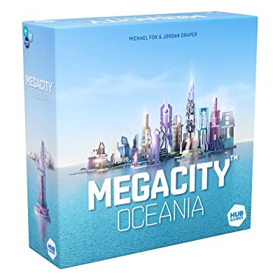 HUB Megacity Oceania Board Game, Multicolor: Toys & Games