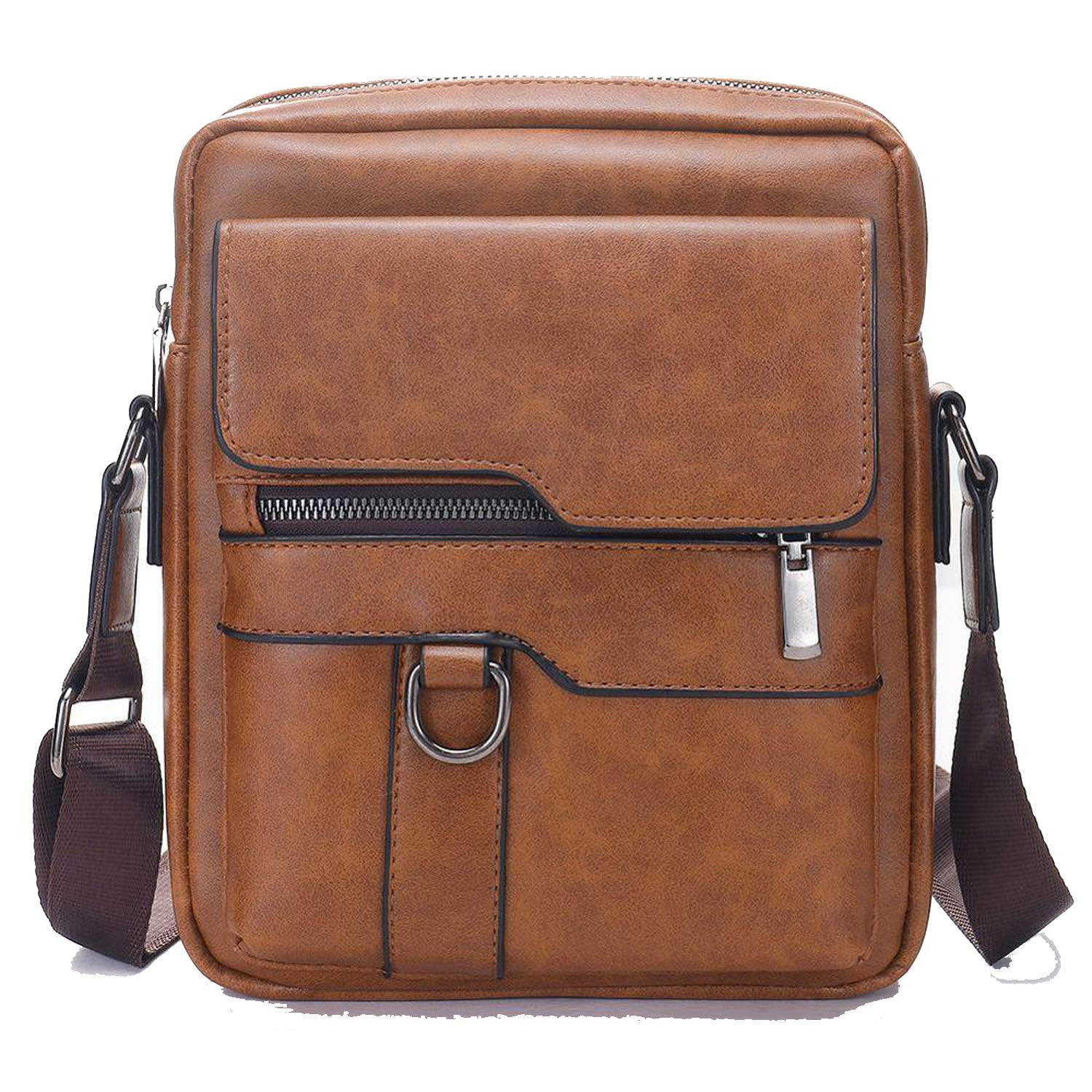 Men Shoulder Bag PU Leather Business Men Messenger Bags Large Man Crossbody Bag Waterproof Travel Bag
