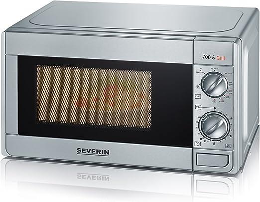 Severin MW7879 Microondas con Grill, 700 W, 20 litros, Gris mate y ...