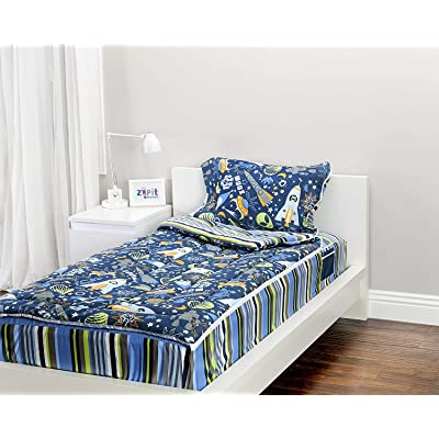 ZIPIT Bedding Set, Outer Space (Twin): Toys & Games