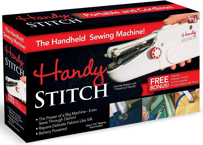 Handy Stitch Mechanical Sewing Machine with Bonus Thread + Needles ...