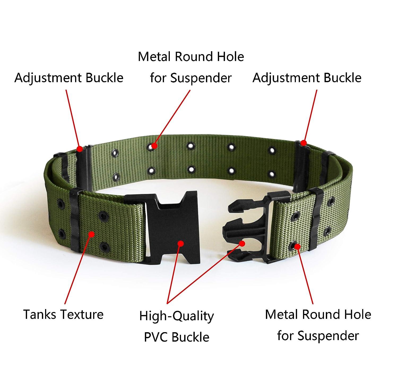 conveniente para los deportes al aire libre el etc el acampar la caza UltraKey Cintur/ón t/áctico cintur/ón de rescate pesado ajustable militar del estilo t/áctico militar