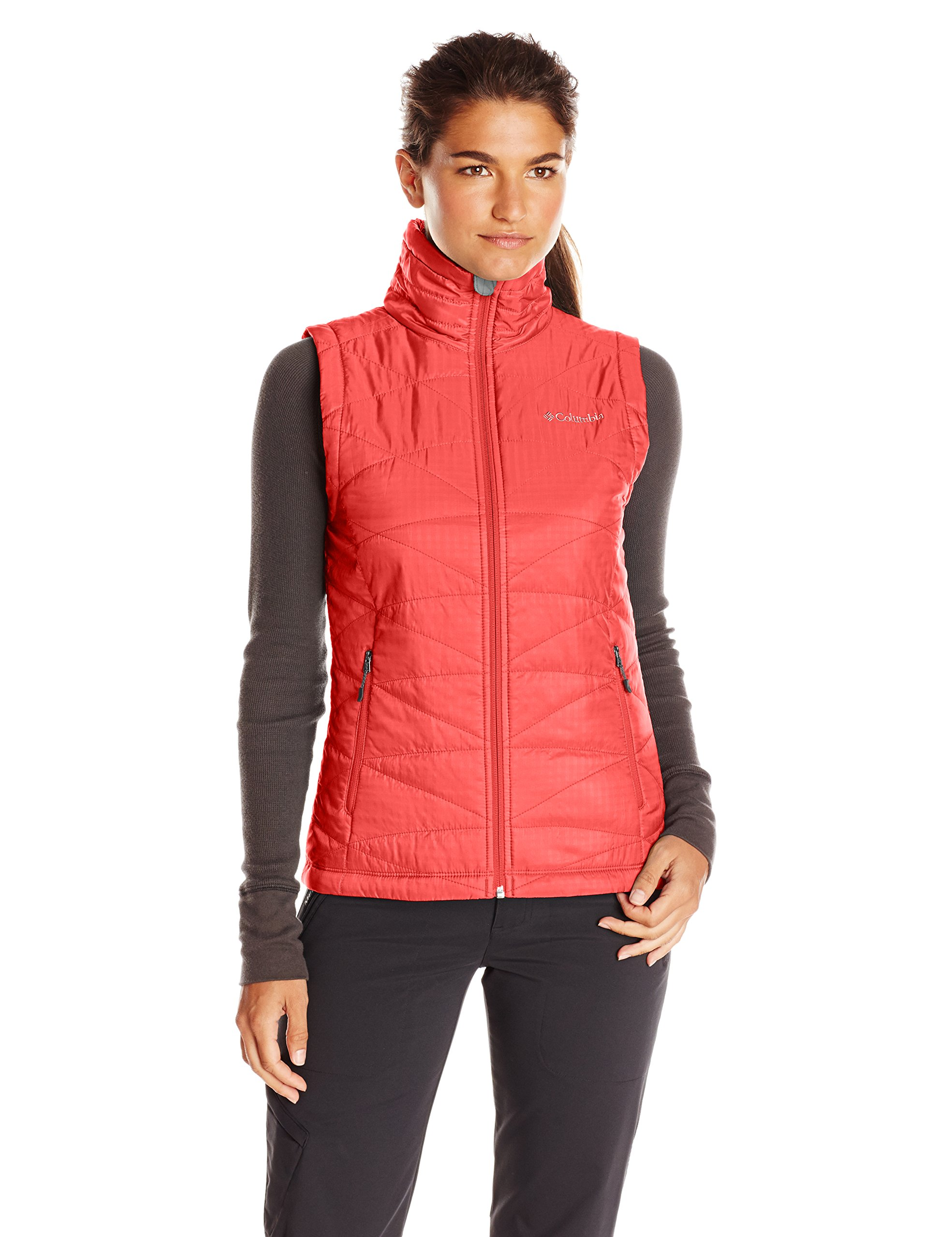 Columbia Women's Mighty Lite III Vest, Red Camellia, 2X