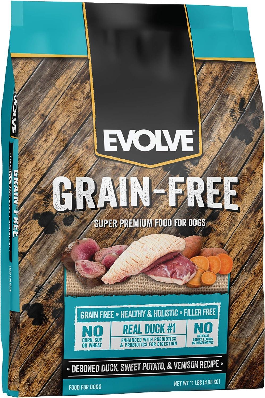 Evolve Super Premium Grain Free Dog Food Diets Deboned Duck, Sweet Potato, & Venison