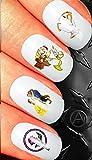 Assortimento di nail art Waterslide nail Decals set regalo–la bella e la Bestia assortimento design N113