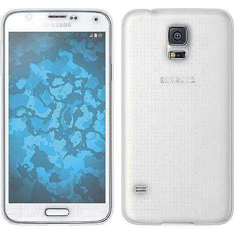 PhoneNatic Funda de Silicona para Samsung Galaxy S5-360° Fullbody Transparente - Cover Cubierta Cover
