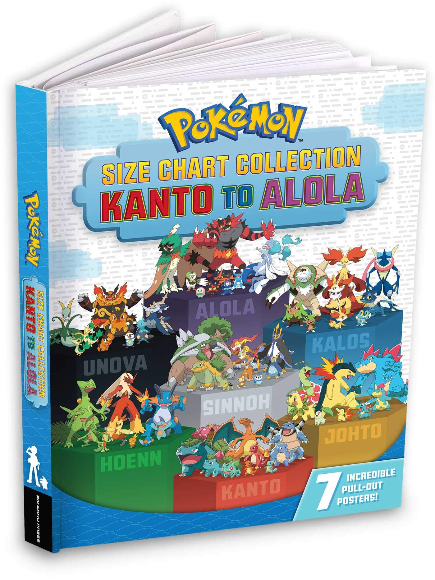 Pokemon Size Chart Collection Kanto To Alola Pikachu Press