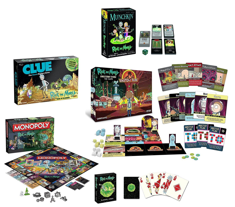 Amazon.com: Rick and Morty Game Bundle: Anatomy Park, Munchkin ...