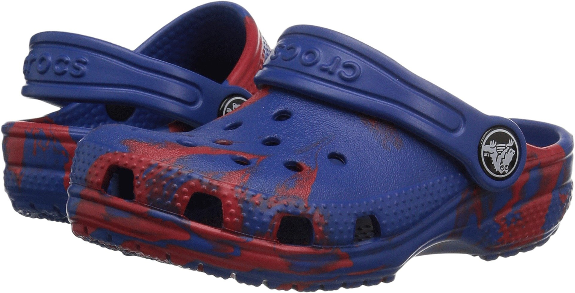 Crocs Kids' Classic Graphic K Clog,red/Blue,6 M US Toddler