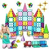 HOMOFY Kids Magnetic Tiles Toys 75Pcs Oversize 3D Magnetic Building Blocks Tiles Set,Building Construction Educational STEM T