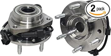 Detroit Axle - (Both) Front Wheel Bearing and Hub embly for Isuzu  on