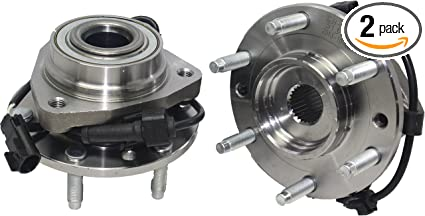 Detroit Axle - (Both) Front Wheel Bearing and Hub Assembly for Isuzu  Ascender Oldsmobile Bravada GMC Envoy Buick Rainier Chevy Trailblazer W/ABS