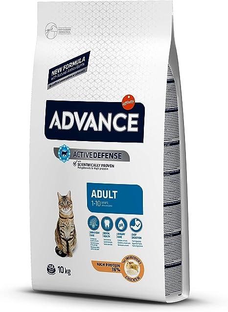 Advance - Pienso para Gatos Adultos con Pollo y Arroz, 10 kg ...