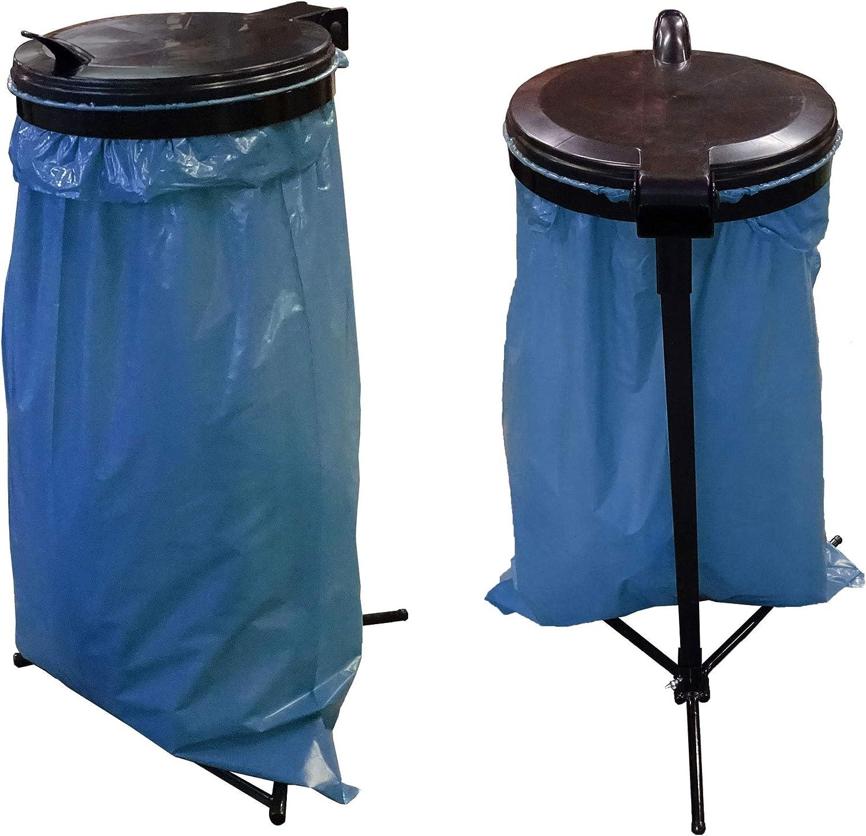QUICK STAR 2 Stück Müllsack Wandhalter 120 Liter Müllbeutelhalter