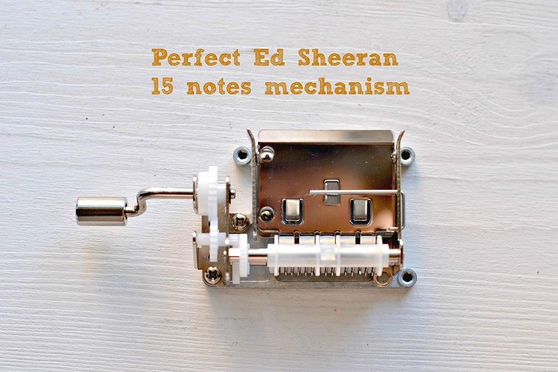 Adaptación de la canción Perfect del artista Ed Sheeran a una manivela musical de 15 notas: Amazon.es: Handmade