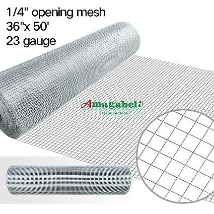 Amazon.com: 1/4 Hardware Cloth 36 x 50 23 gauge Galvanized Welded ...