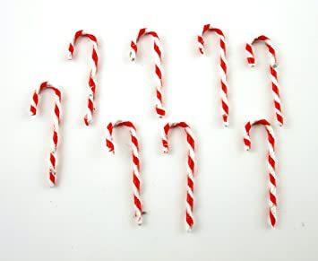 bastones de caramelo navideos para decoracin de rbol de navidad en miniatura para casas de muecas