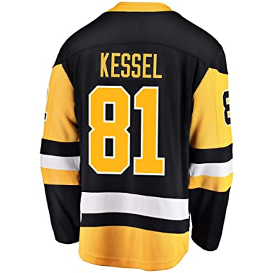 2df5808e4 Outerstuff Phil Kessel Pittsburgh Penguin  81 Black Yellow Home Youth  Premier Jersey (Small