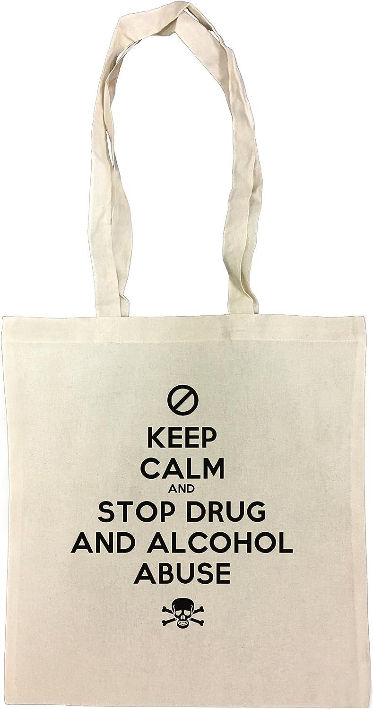 Keep Calm And Stop Drug And Alcohol Abuse Bolsa De Compras Playa ...