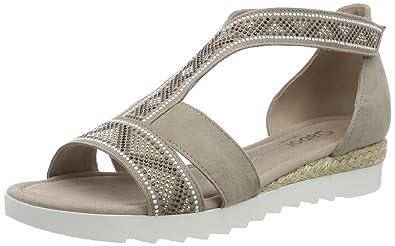 Gabor Shoes Comfort Sport, Sandales Bride Cheville Femme, Gris (Light Grey Jute), 42 EU