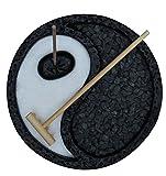 Black Yin Yang Zen Garden Desk Meditation Garden