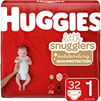 96-Count (3 x 32-Count) Huggies Little Snugglers Baby Diapers (Size 1)