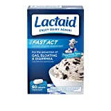 Lactaid Fast Act Lactose Intolerance Relief Caplets with Lactase Enzyme, 60 Travel Packs of