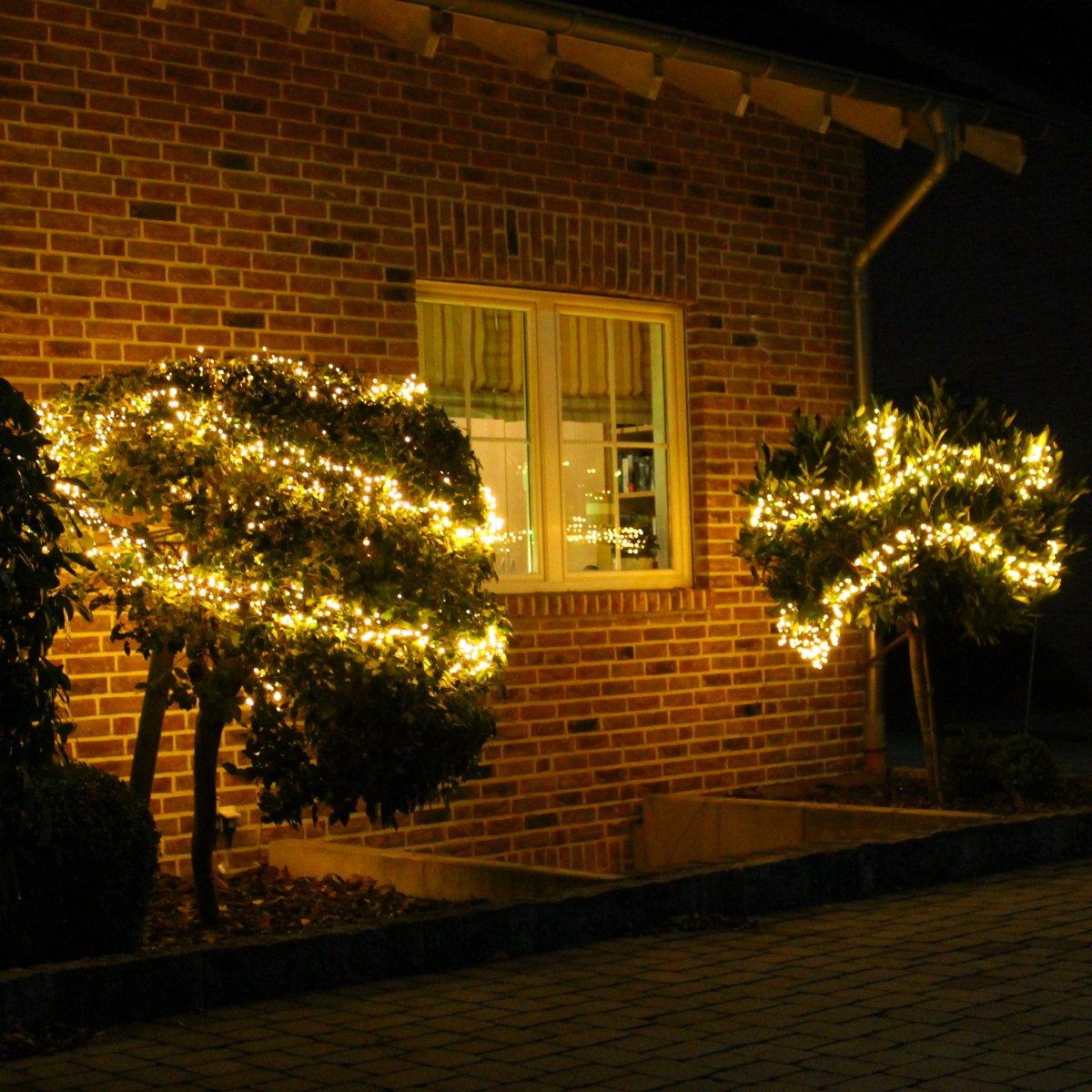 Lichterkette Warmweiß 20m für außen und innen LED Weihnachtsbeleuchtung Strom betrieben Weihnachtsdeko Tannenbaum 1000 LED Dszapaci® AX8-510240