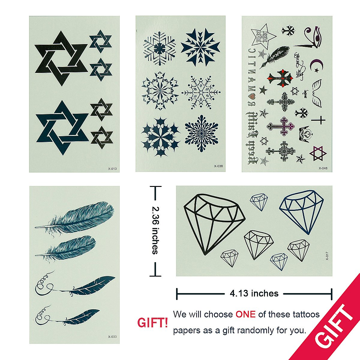 GIFT!!Tastto 6 Sheets Henna Body Paints Temporary Tattoos Black Lace Stickers for Girls and Women with GIFT by Tastto (Image #2)