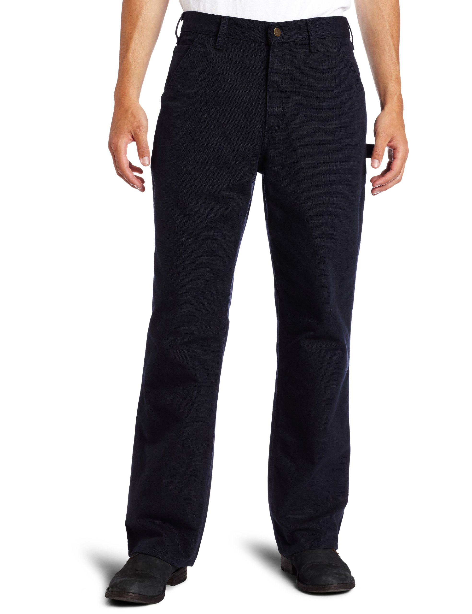 Carhartt Men's Washed Duck Work Dungaree Utility Pant B11,Midnight,28 x 32