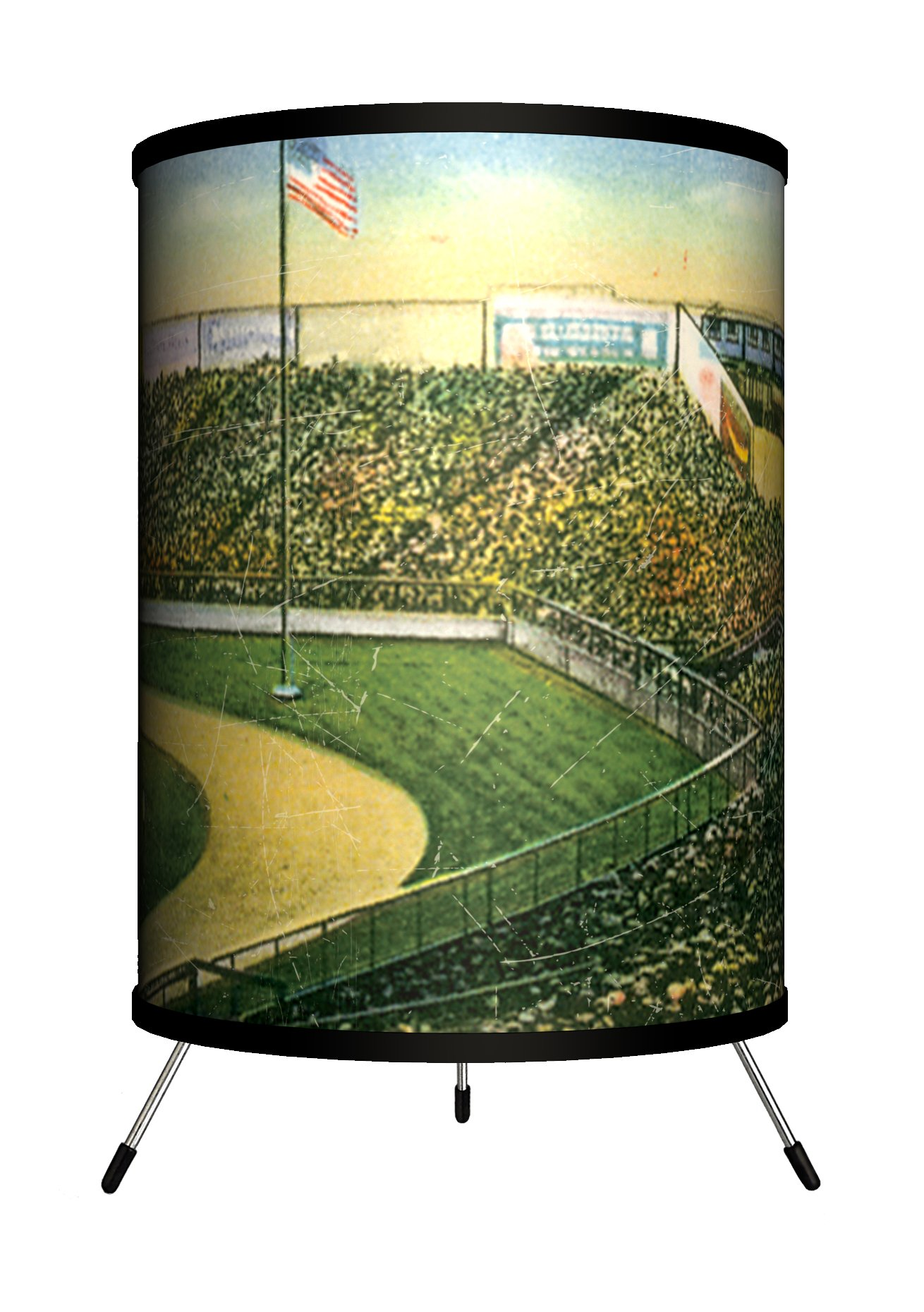 Lamp-In-A-Box TRI-TRV-YANKE Travel - Yankee Stadium Postcard Tripod Lamp, 14'' x 8'' x 8''