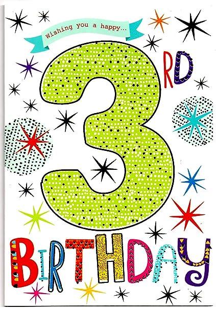 Tarjeta de cumpleaños para tres (3) años de edad niño ...