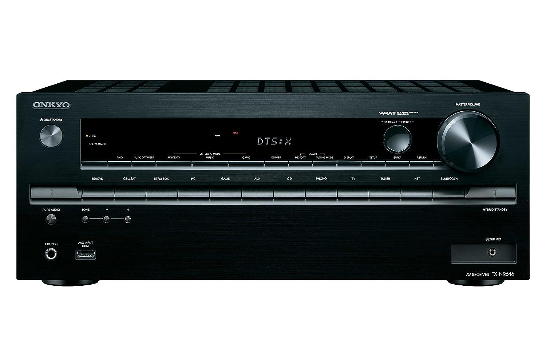 ONKYO AVレシーバー 7.1ch Dolby Atmos/DTS:X/4K/HDCP2.2/ハイレゾ音源対応 ブラック TX-NR646(B)   B00Y9D5BIA