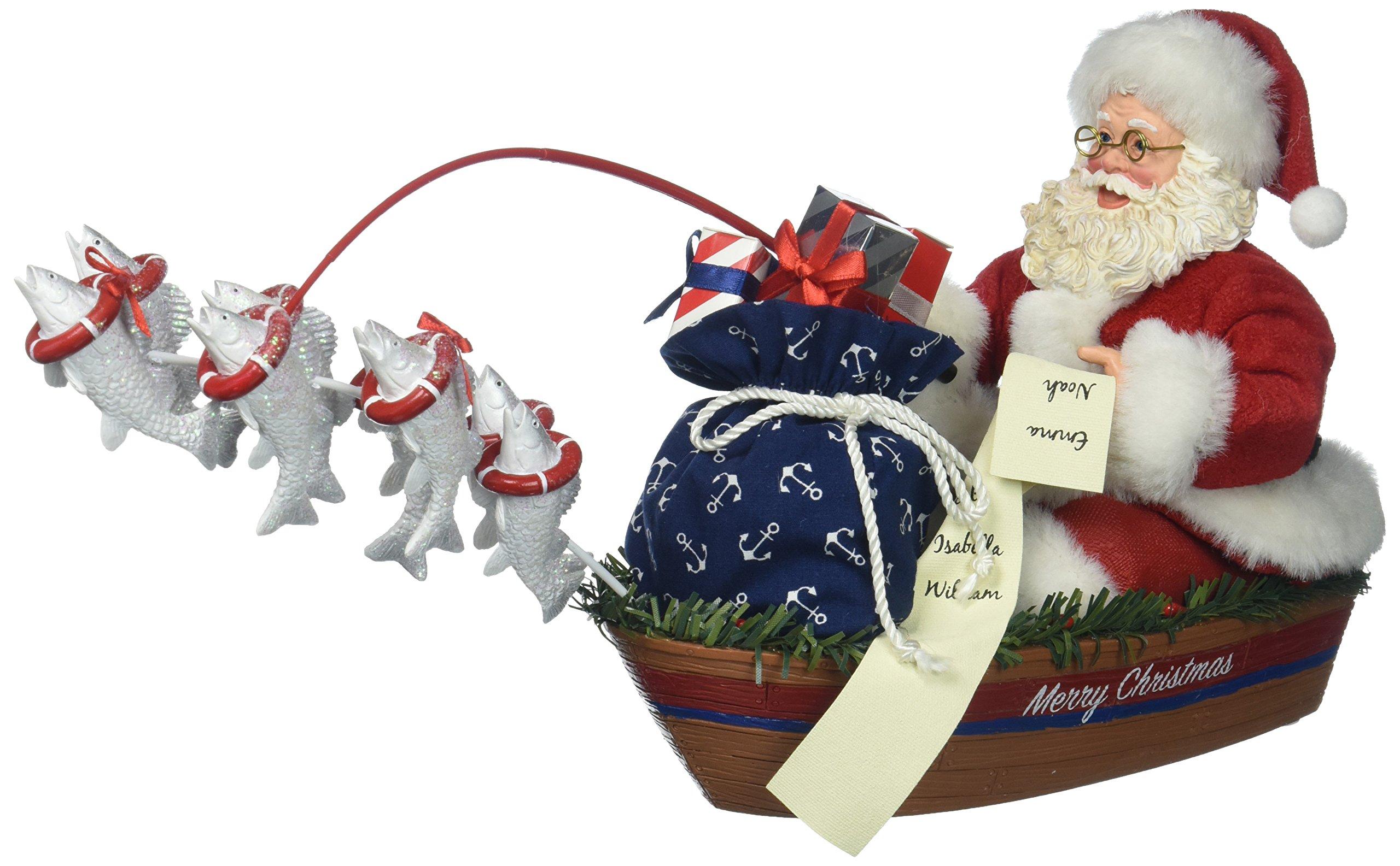 "Department 56 Possible Dreams Santa Claus ""Eight Tiny Fish"" Clothtique Christmas Figurine"