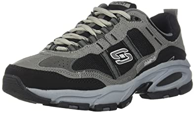 db4eef99ff528 SKECHERS Men's Vigor 2.0 Trait Charcoal/Black 6.5 D - Medium