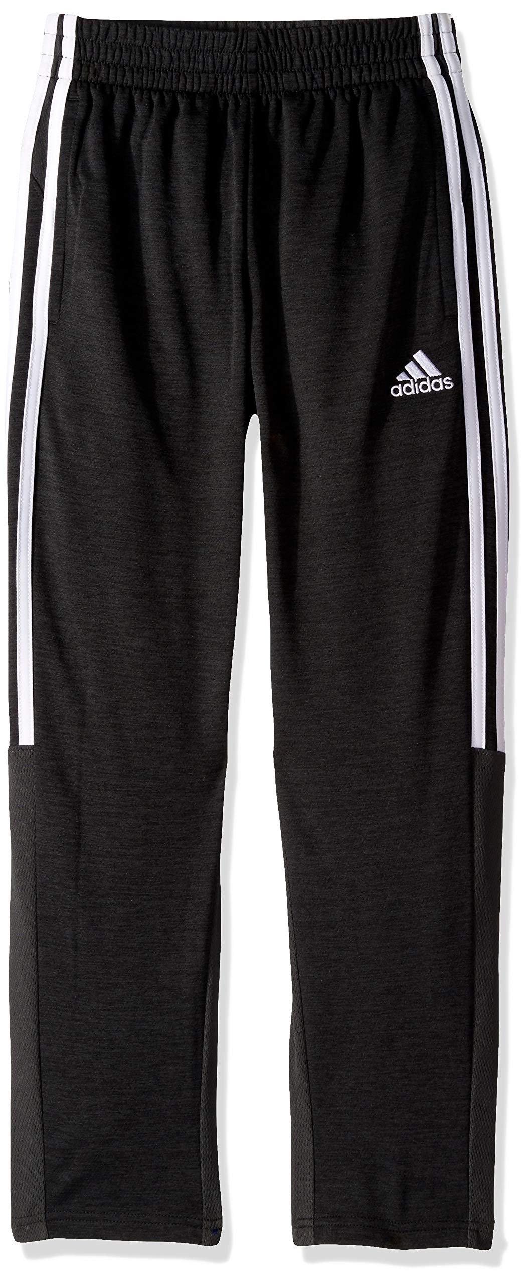 adidas Boys' Big Stay Cool Climalite Athletic Sport Pant, Black Heather, S (8) by adidas