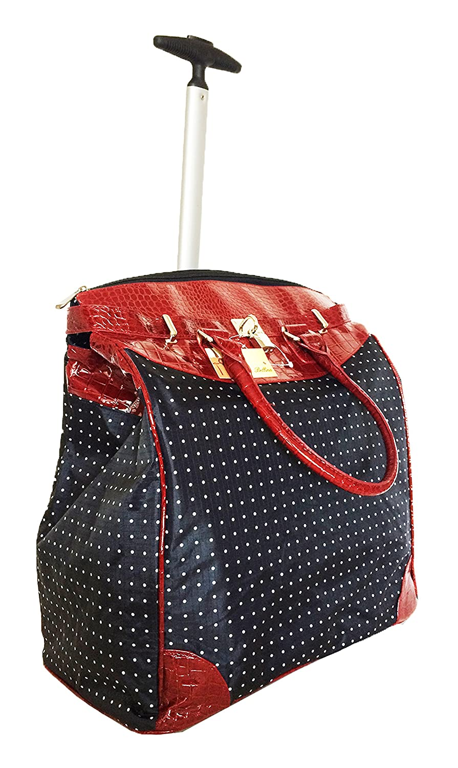 db01c9503e0b Polka Dot Rolling Travel Tote Foldable Carry-On