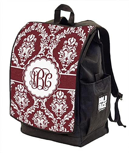 Amazon.com: Maroon & White Backpack w/Front