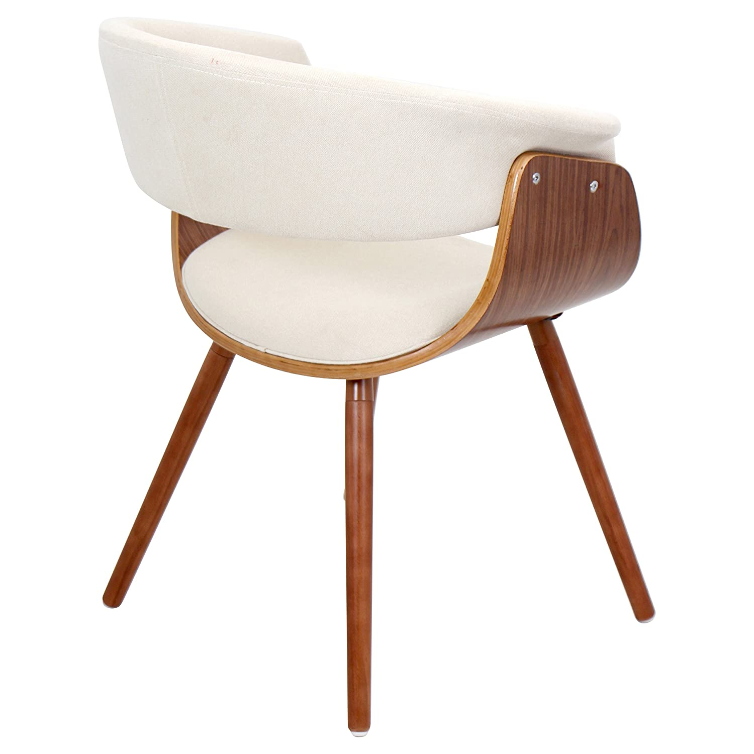 LumiSource CHR JY VMO WL+C Vintage Mod Mid Century Modern Chair In Walnut  Wood And Cream Fabric: Amazon.ca: Home U0026 Kitchen