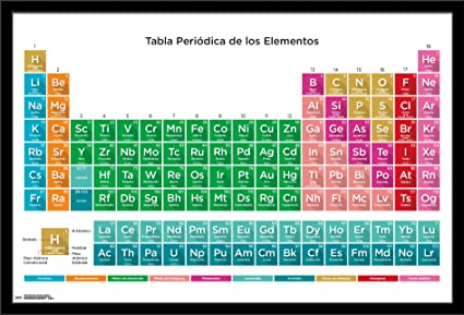 Amazon trends international framed poster periodic table of trends international framed poster periodic table of elements spanish 17 2425quot urtaz Images