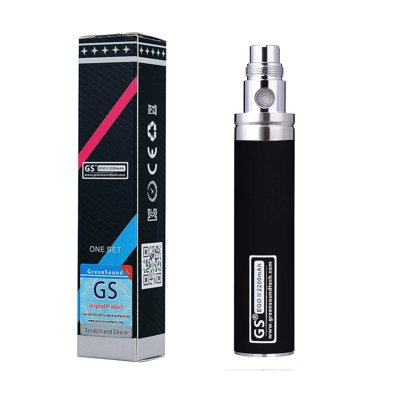 Gaigor EGO II Batería Recargable 2200mAh, 510 Cigarrillo Electrónico Sin nicotina Ni Tabaco Ni Líquido (Negro A017Z003)