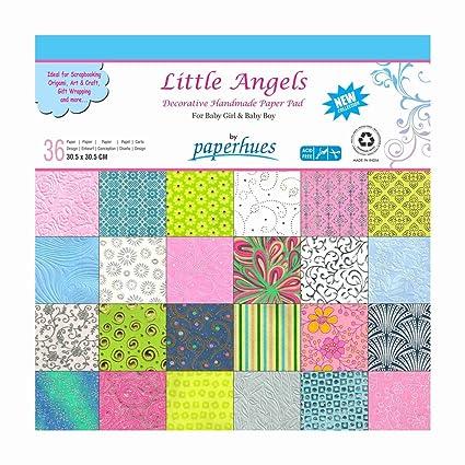 Amazon Paperhues Little Angels Decorative Paper Pad 36