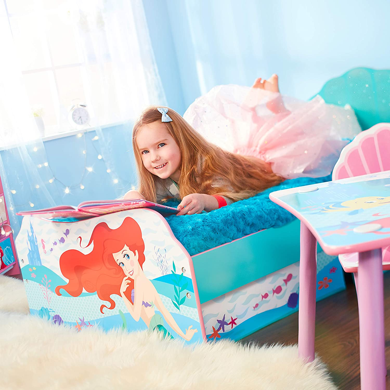 Doppio Disney Principesse Ariel-Lettino per Bambini con Contenitore sottoletto