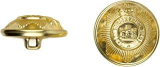 product image for C&C Metal Products 5024 Devonshire Metal Button, Size 36 Ligne, Gold, 36-Pack
