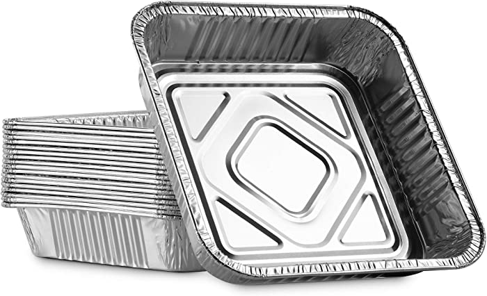 """MontoPack 9"""" Disposable Aluminum Foil Square Baking Pans 