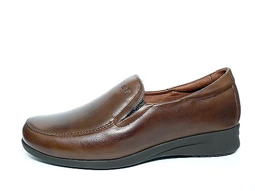 Zapatos cómodos mujer PITILLOS - Tipo mocasín, disponibles en color negro y en color marron