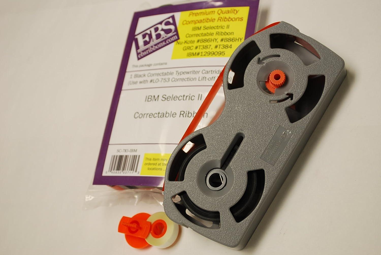 EBS Premium calidad IBM Selectric II máquina de escribir y Lift Off cinta paquete Combo Compatible con NU-kote # b86hy, # b86hy GRC # T387, ...