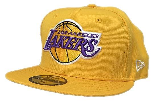 3f22eb36a0c Los Angeles Lakers New Era NBA HWC Back To Basic 59FIFTY Cap (7 3 4 ...
